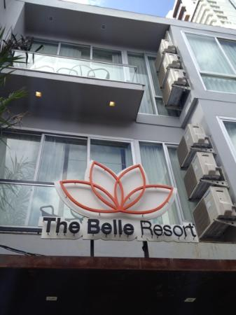 The Belle Resort: That's room 223 for you. just above the hotel sign