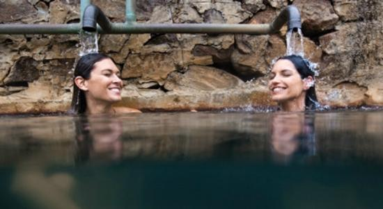 Ojo Caliente Mineral Springs Resort and Spa: The Iron Pool is believed to be beneficial for the blood and immune system.