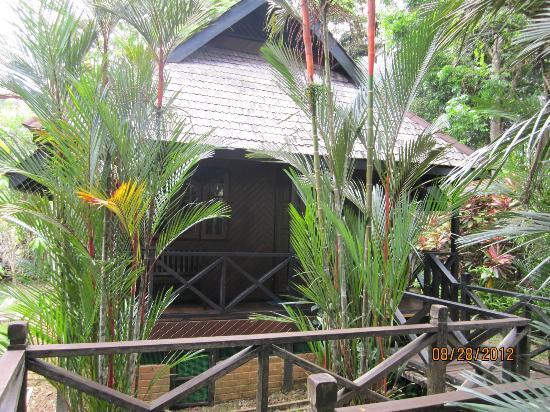 Sepilok Nature Resort: Bungalow and walkway