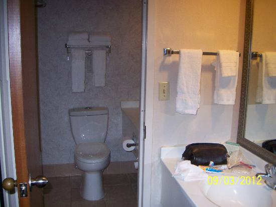 Greenstay Hotel & Suites: Divided Toilet/shower and day sink areas.