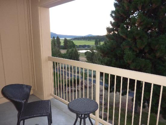 Running Y Ranch Resort: Looking out from room balcony.