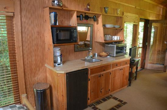 "Banner Haven B&B and Cabin Rentals: Creekside Cabin ""Mini Kitchen"""