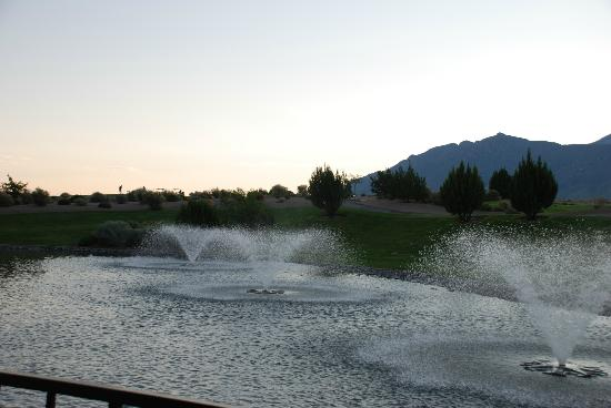 Sandia Casino & Resort: View from Pool area, looking towards golf course