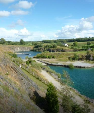 Ballyhass Lakes Activity Centre & Fishing : view from absailing!