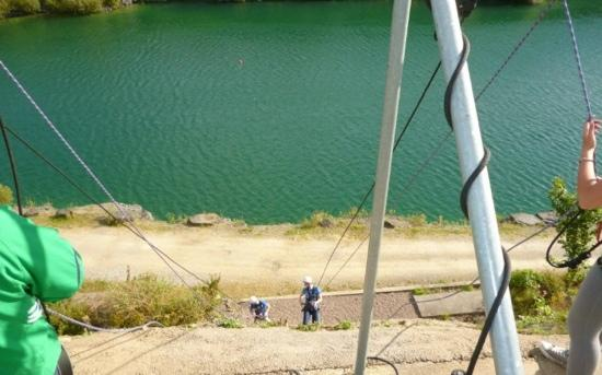Ballyhass Lakes Activity Centre & Fishing : absailing!