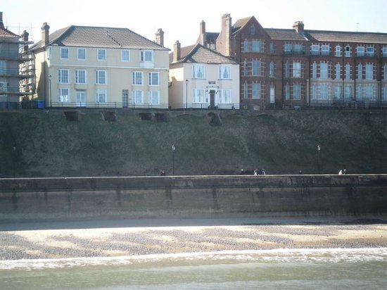 Western House Hotel: View from the pier, Western House is in the center of the picture.