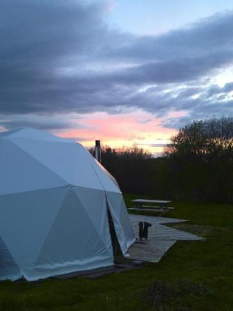 Away From It All: Evening sunset at Carnguwch dome