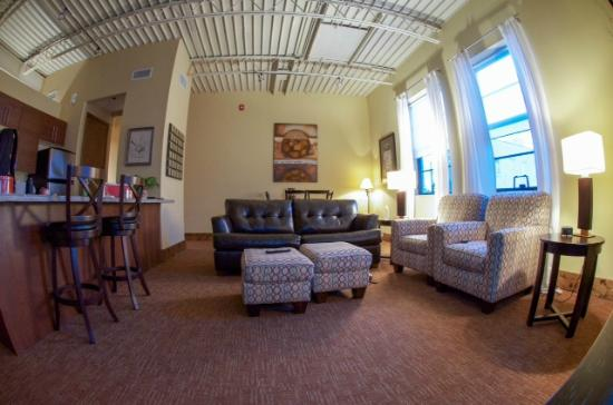 The Lofts at the Five & Dime: Here's a view of the living area in Loft C