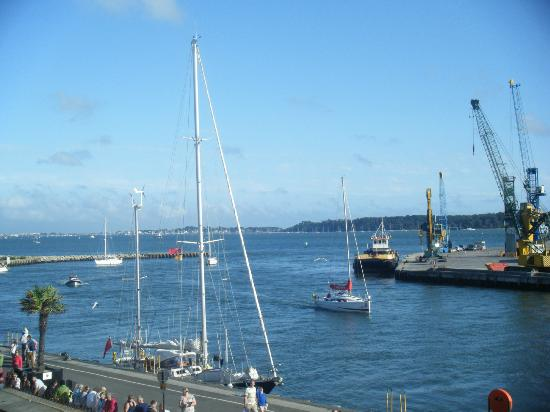 Corkers: View from our balcony over Poole Harbour