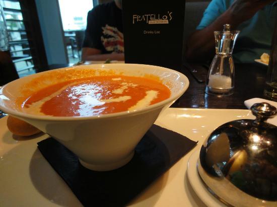 Fratello's: lovely homemade soup.