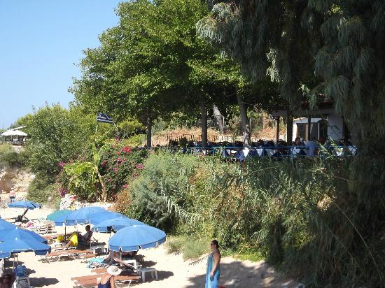 Stoupa Restaurant: View of Restaurant from the beach