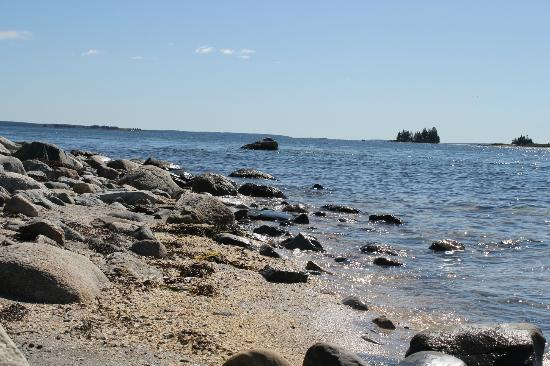 Lookout Inn: Beautiful Maine rocky shores.