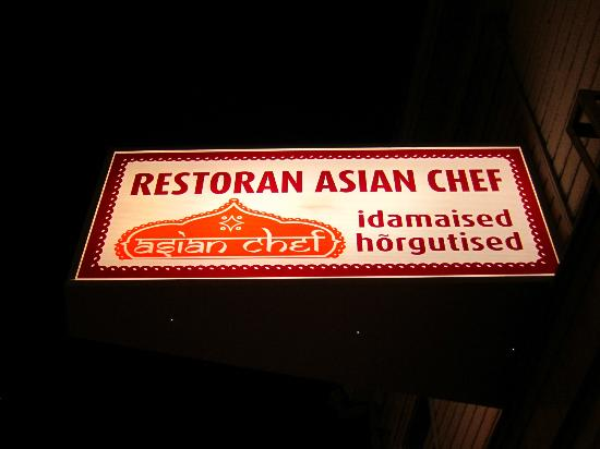 Asian Chef: Sign on main street nearby