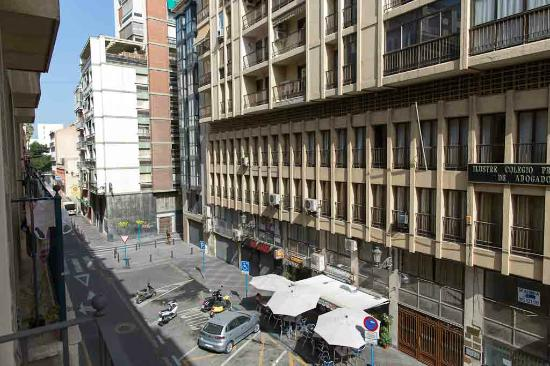 Hotel Gravina Cinco: view from balcony - left