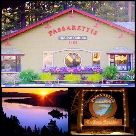 Passaretti's Italian Restaurant: Exterior and Sign