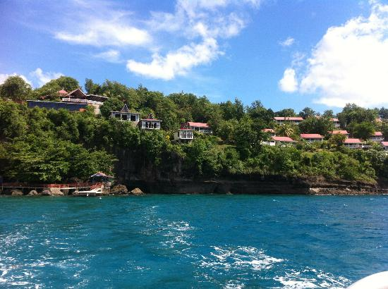 Ti Kaye Resort & Spa: view on the resort from the sea