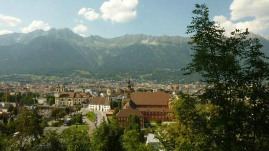 """Museum """"Das Tirol Panorama"""": view from the Tirol Panorama"""