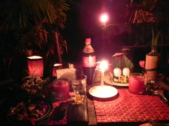 candle light dinner setup - picture of mermaid eco resort