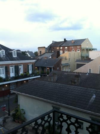 Le Richelieu in the French Quarter: view from balcony of 306