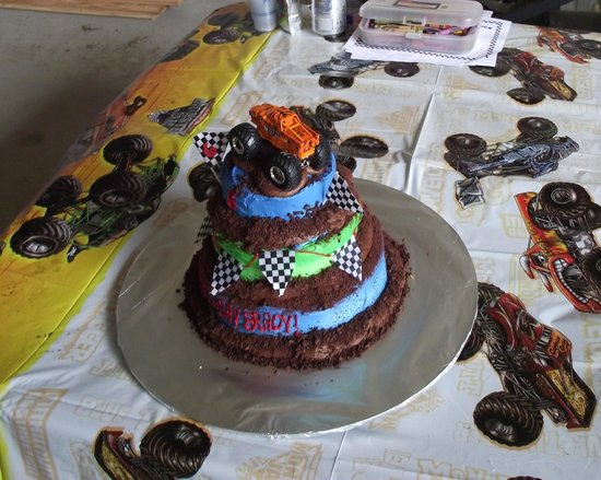 Astounding Monster Jam Birthday Cake Picture Of Frosted Cortland Tripadvisor Funny Birthday Cards Online Elaedamsfinfo