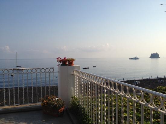 dalla terrazza dell'hotel miramare