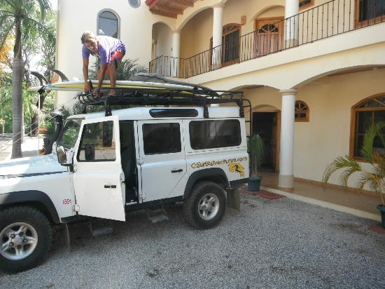 Villa Del Sol & Casa Dos Palmas: Parked in front of our villa.