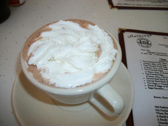 Anthony's Pancake & Waffle House: Hot chocolate -- sinful