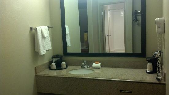 La Quinta Inn & Suites Savannah Southside: Executive King room across from bathroom