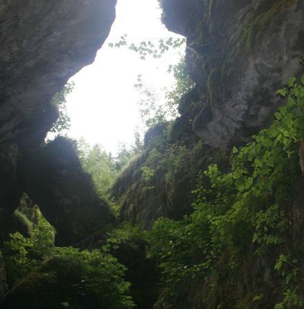 Teufelshöhle Pottenstein: ...irgendwann wird auch wieder Licht...