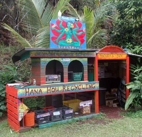 Hedonisia Hawaii Sustainable Community: Mamaki Akua Recycling Center