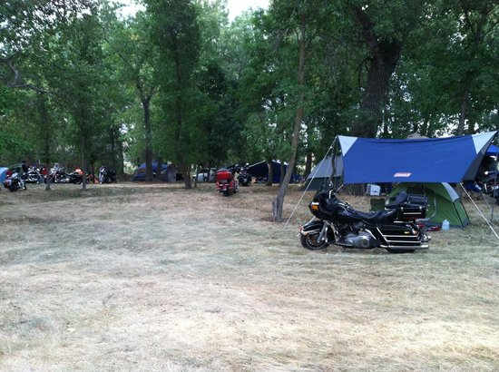 Sturgis, SD: shady area in back of campground