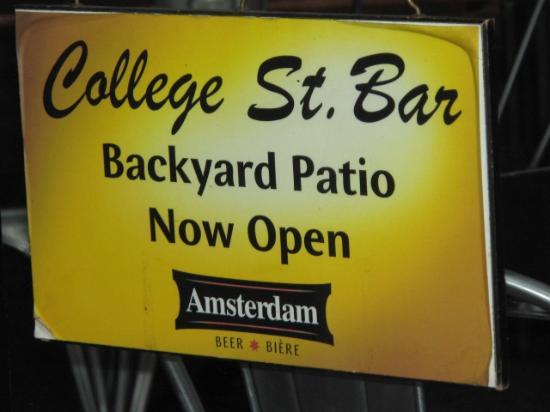 College Street Bar : At the door