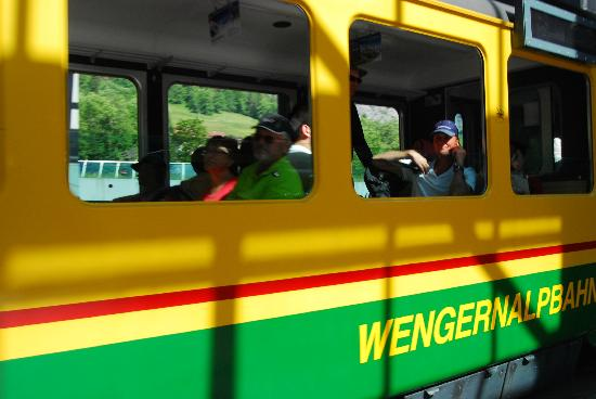 Hotel Edelweiss: Cog train to Wengen