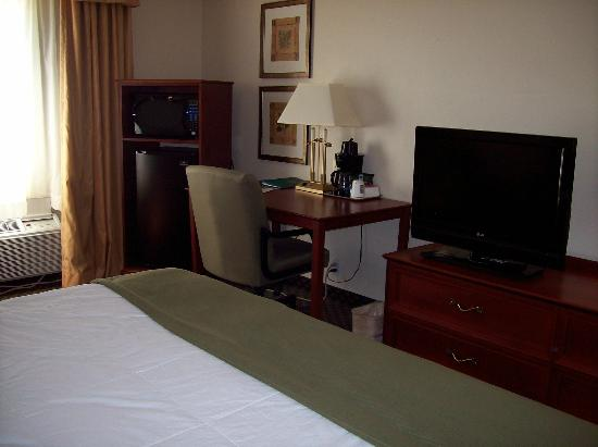 Quality Inn & Suites: Work area in room