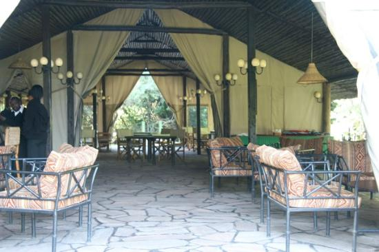 Sekenani Camp: Bar and restarant