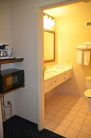Holiday Inn Express Waynesboro - Rt. 340: Microwave, coffee maker, and nice bathroom