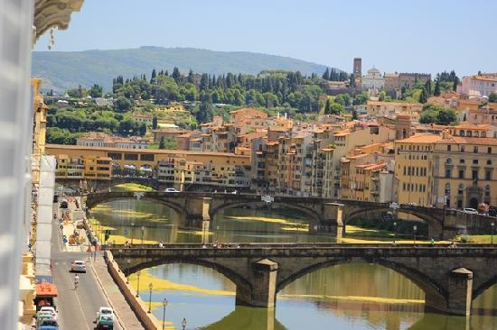 The St. Regis Florence : View of Ponte Vecchio from room