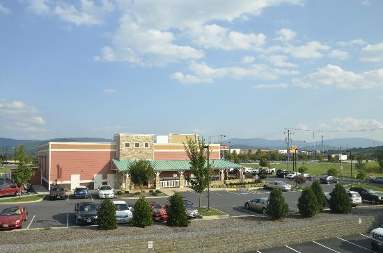 Holiday Inn Express Waynesboro - Rt. 340: View from my room - Outback and Plaza Azteca Mexican Restaurant within steps of the hotel!
