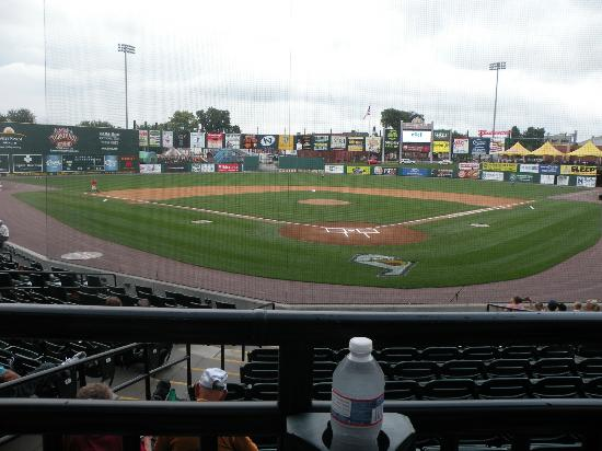 PeoplesBank Park: Heritage Boxes and handicapped seating behind home plate