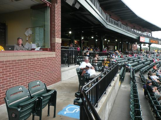PeoplesBank Park: Handicapped seating below Press Box - behind home plate