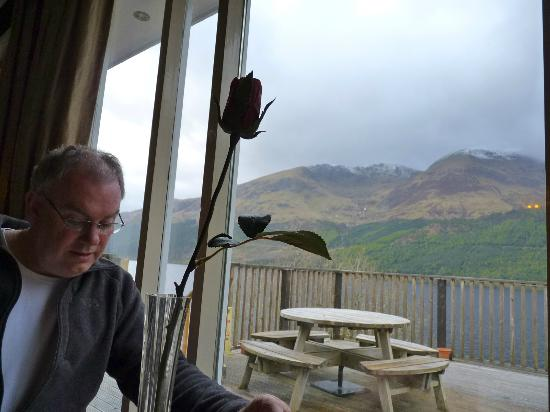 Letterfinlay Lodge Hotel: View from the dining room