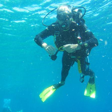 Raja Laut Dive Resort: Mi si riconosce dalla pelata...