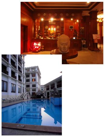 New Angkorland Hotel: upper pic-lobby, lower pic, the pool