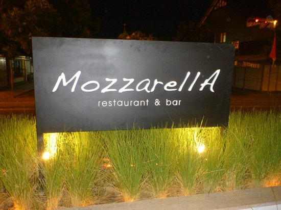 Mozzarella at The Magani Hotel : sign