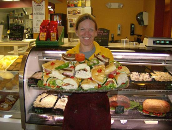 Big Dave's Bagels & Deli: Sue with Assorted Sandwich Platter