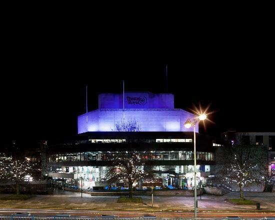 Theatre Royal Plymouth: External shot at night