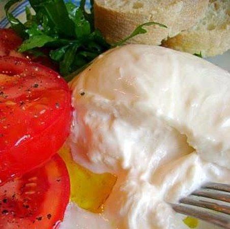 El Nou de Sarria: burrata fresca deliciosa