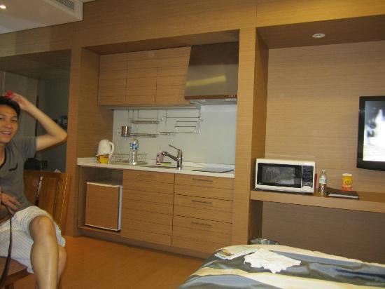 Konjiam Resort: the kitchen and refrigerator