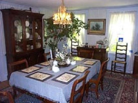 Maple Hill Bed and Breakfast: Dining Room