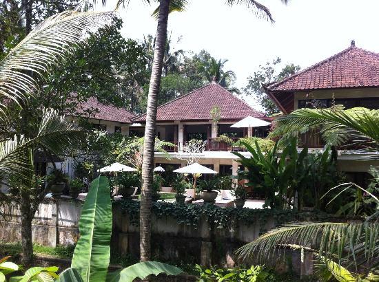 Villa Saraswati: la villa dalla sponda opposta del fiummiciattolo